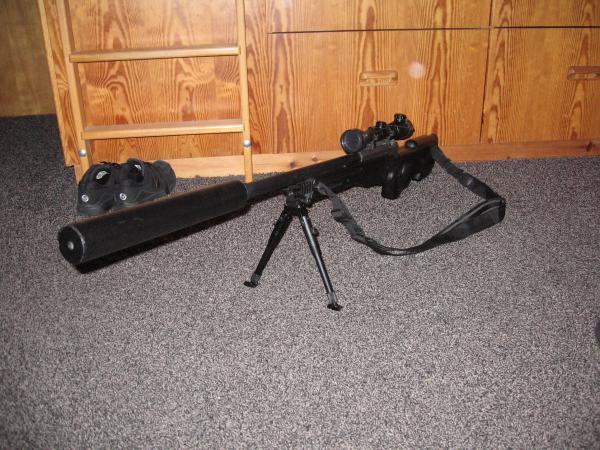 silencer schalld mpfer f r sniper selbstbauen airsoft. Black Bedroom Furniture Sets. Home Design Ideas